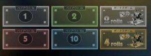 1、2、5、10という数字と金・銀のボーナス、そしてチャンスマスが用意